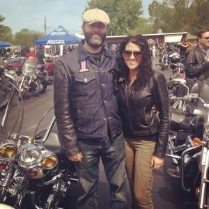 """Brad Shipston, winner of the """"Follow Your Dream"""" contest put on by Metzeler and Indian Larry Motorcycles"""