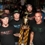Ballistic Cycles with Baddest Bagger first place trophy