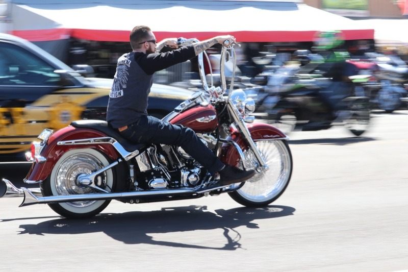 Riders kept Cave Creek Road crowded with lots of chrome and custom cruisers