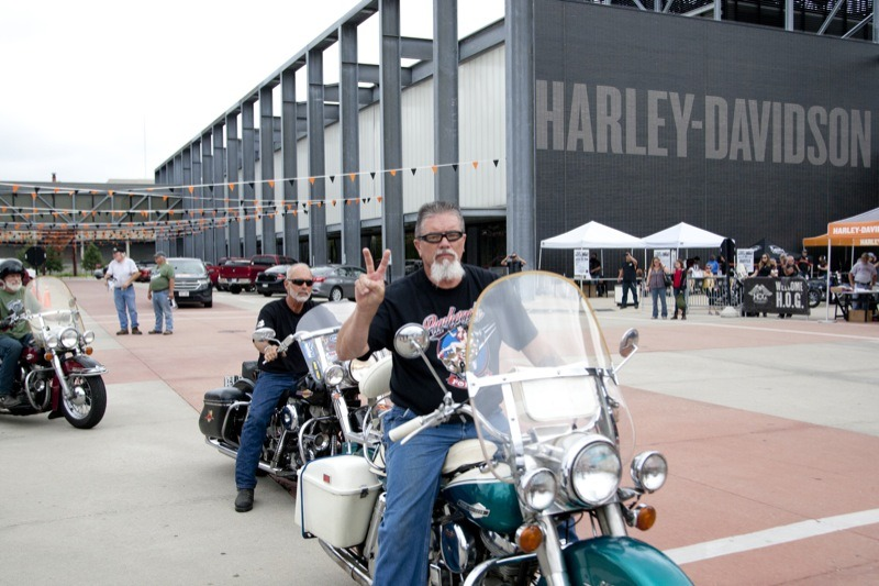 After a police-escorted ride across town during the Panhead Pandemonium ride, riders arrived at the Harley-Davidson Museum to participate in an afternoon of fun and frivolities during the celebration of the 70th anniversary of the Panhead motor.