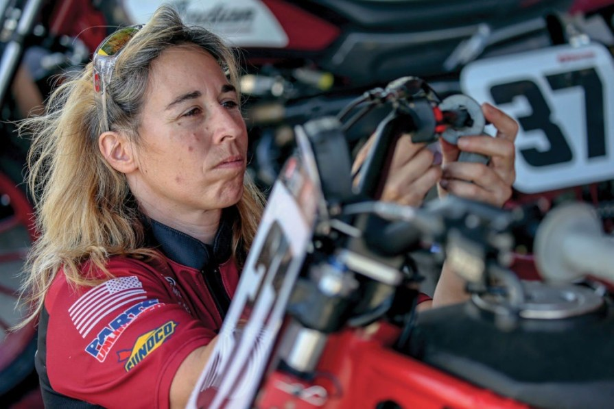Michelle disalvo, indian motorcycle, thunder press