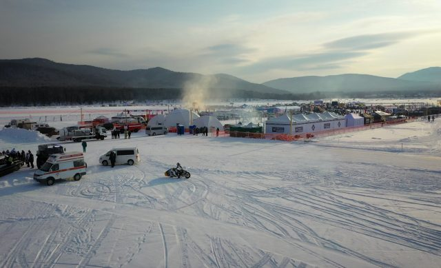 The Baikal Mile in Russia where racers tested the Indian Appaloosa