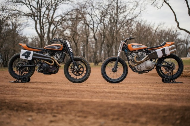 Harley-Davidson XR750 and Harley-Davidson XG750. Harley-Davidson celebrates 50th anniversary of Harley XR750