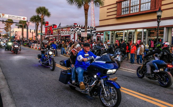 Daytona Bike Week 2020 Main Street bikers