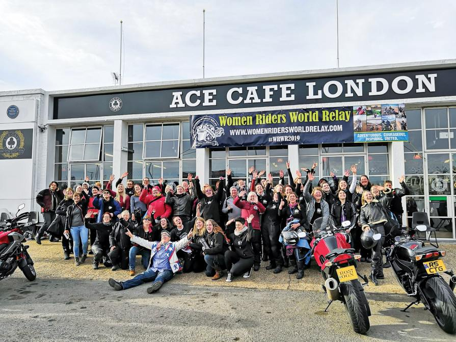 wrwr, women riders world relay, hayley bell, ace cafe london