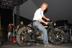 Ultra-cool Buddy Stubbs was awarded the Arizona Bike Week Hero and rode his 1948 H-D onto the stage to accept the honor
