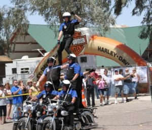 The Victor McLaglen Motor Corps. Drill Team wowed the crowd