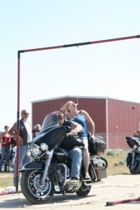 Taking a bite out of the bike game action at Kelly's Biker Palooza