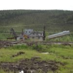 The Pedro Gold Dredge in Chicken, Alaska, was transported from Fairbanks in 1959