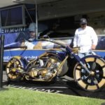 The Newmont Mining bike built by Paul Teutul Jr. was on hand and shown off by Manny Villanueva from Newmont