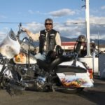 Lee Stewart took first place in the Cruiser Category with his 9/11-themed Softail