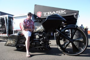 "Paul Tracy's ""Black Mamba"" won the Baddest Bagger trophy. The intricately detailed bagger was built by Trask Performance"