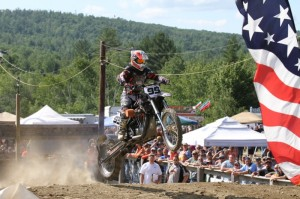 The big-inch Harley-Davidson proves its power off the line at the Shawn P. Farnsworth Memorial Hill Climb