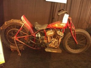 This 1939 Loren Rusnak Indian Scout Hillclimber is virtually untouched since its days in action