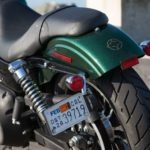 Rear-end updates on 2013 Street Bobs feature a side-mounted license plate, chopped fender, and turn signals that double as brake and running lights