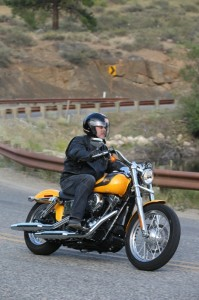 The 2013 FXDB Street Bob with pullback bars and mid-mount foot controls
