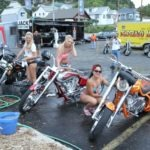 Getting your bike washed by these lovely ladies at Desperado Junction in Lead was worth twice the price
