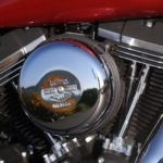 The Street Bob gets a new air cleaner cover with Bar & Shield logo for 2013