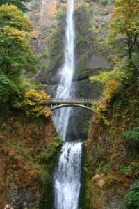 Plummeting 620 feet, Multnomah Falls is the second highest year-round waterfall in the U.S.
