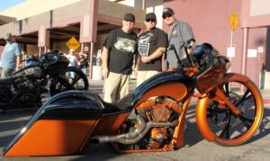 Paul Yaffe with Baddest Bagger Best-in-Show winner Ray Maldonado and Dave Withrow