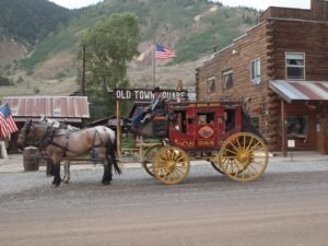 Taking in Silverton the old fashioned way