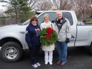 Bunny O'Leary, Grand Marshal and American Gold Star Mothers President Mary Byers and her husband, Gold Star Dad Dr. Lloyd Byers