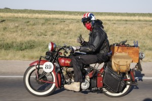 USAF Captain Josh Wilson came prepared for anything on his newly purchased Craigslist 1929 Indian Scout--except fire. Riders donated items after his saddlebag burst into flames and cooked his clothes.