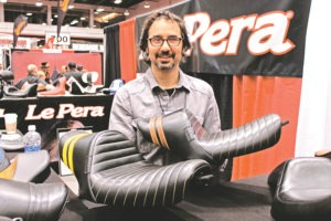 Bob LePera Jr. with his Stubs Sportster seats