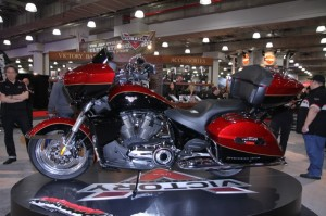 Victory Motorcycles unveiled the 15th Anniversary Cross Country Tour Limited Edition at the New York show