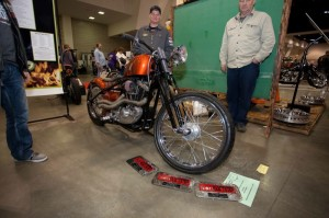 "Mitchell Technical Institute's build, titled ""Money Pit,"" started as a donated 1983 H-D XLH Sportster"