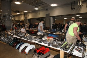 Swap meet parts and paraphernalia were spread out over 40,000 square feet