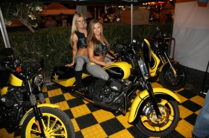 The lovely Rock Star Energy Drink girls, Melissa Goodwin (front) and Stephanie Pletz