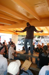 Lucky bingo winners were forced to get their groove on atop the tables