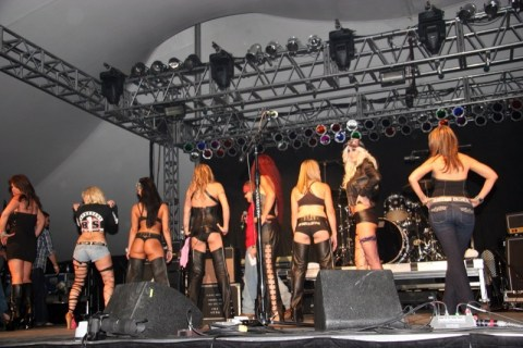 Ladies shared the flip-side during the Miss Arizona Bike Week contest
