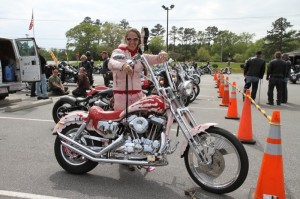 Beth Roberts took first place at the Ladies Bike Show with her beautifully customized '93 Sportster
