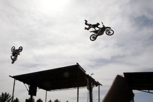 Stunt jumpers from Brigade FMX took to the sky and wowed the crowds throughout the day at WestWorld