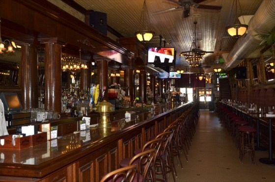 The longest bar in Wisconsin at Buck Bradley's on Old World 3rd St.