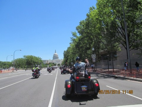 Rolling Thunder XXVI - heading to the Capitol