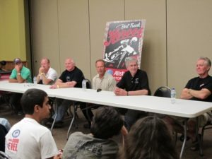 From left: Bubba Shobert, Chris Carr, Rich King, Jay Springsteen, John Kite and Bill Werner participate in the roundtable discussion held in the museum's Grand Ballroom