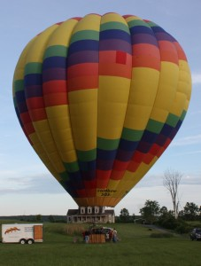 Passengers prepare for liftoff in South Glens Falls