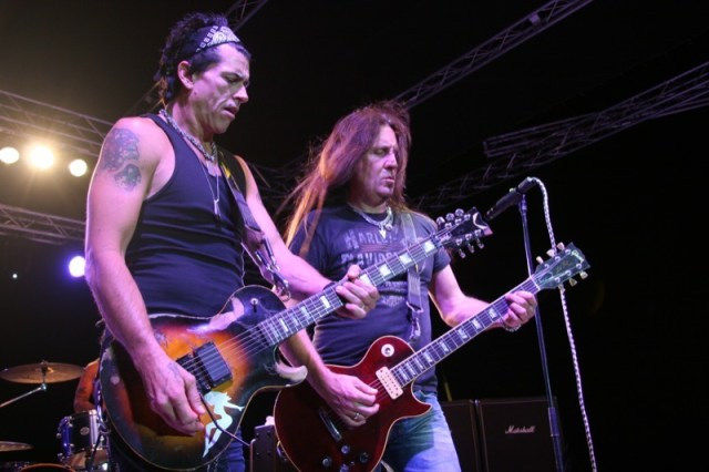 The boys from the band Jackyl rocked out on Friday night
