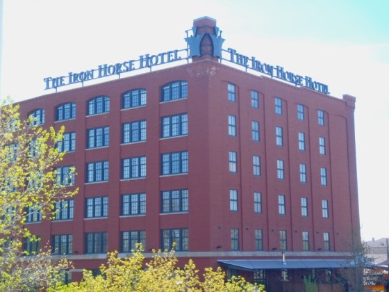 The Iron Horse Hotel located on 6th St. offers a luxury boutique hotel experience