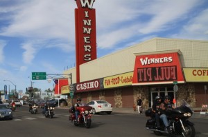 Winner's Casino was the central hub of activity as bikers rolled into town from every direction