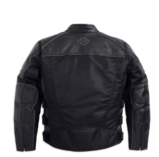 Harley-Davidson Men's Blackoak Jacket with Leather Trim (back)