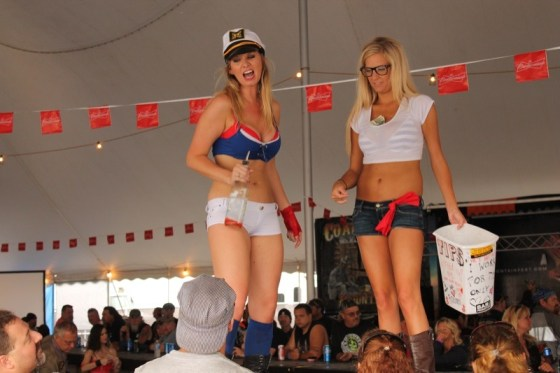 Always expect a party under the tent at the Coal Bucket Saloon
