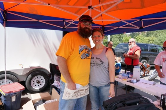 Joe and Michelle Mielke celebrated Michelle's birthday at the FXR Motorbike Show