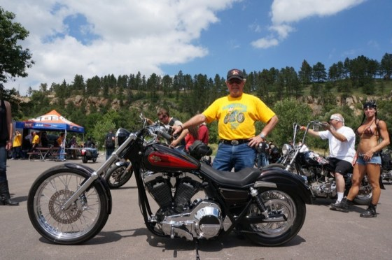 David Sparks took first place in the FXR Motorbike Show with his '91 FXR