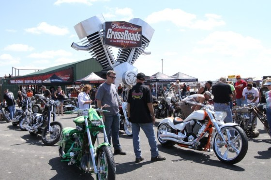 Checking out the Rat's Hole Bike Show at the Buffalo Chip Crossroads