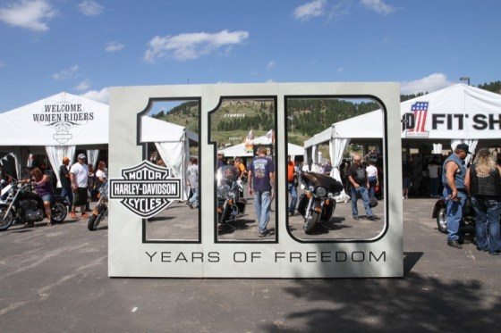 Harley-Davidson celebrates its 110th anniversary at Sturgis