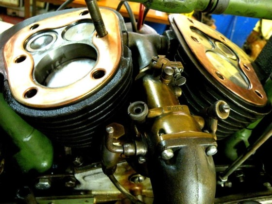 side-valve V-twin engine